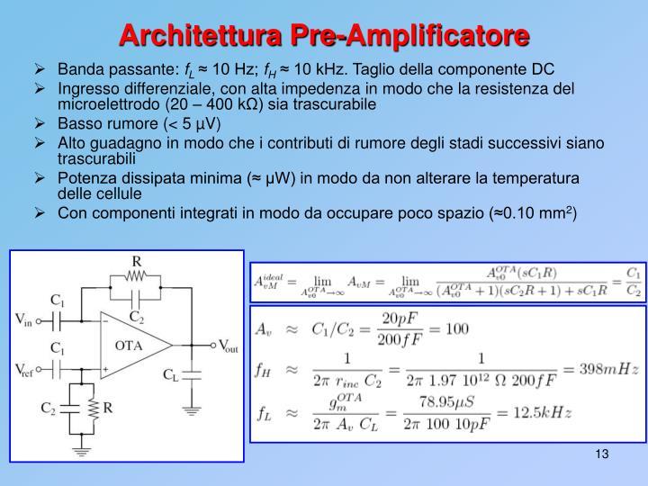 Architettura Pre-Amplificatore