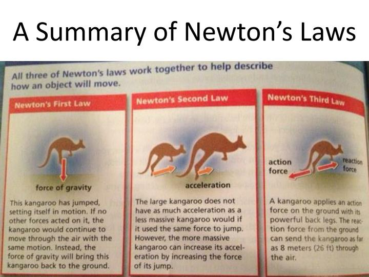 A Summary of Newton's Laws