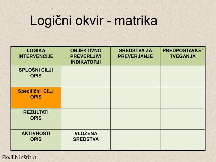 Logični okvir – matrika