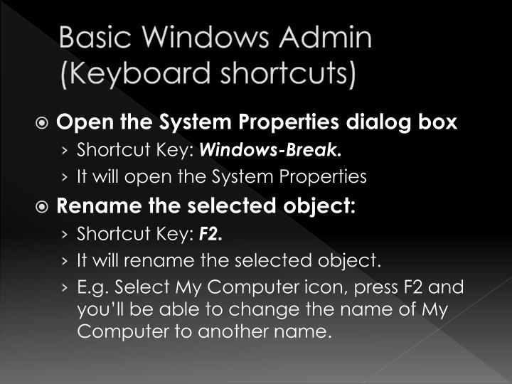 Basic Windows Admin