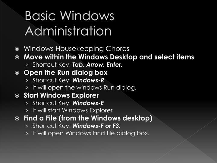 Basic Windows Administration