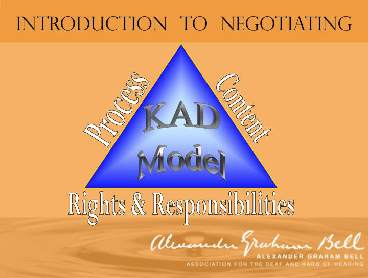Introduction  to  Negotiating