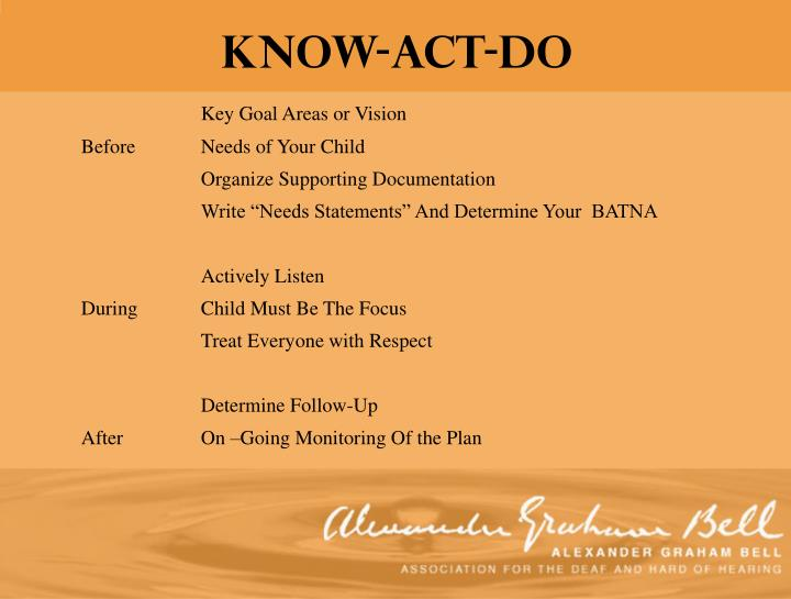 Know-Act-DO