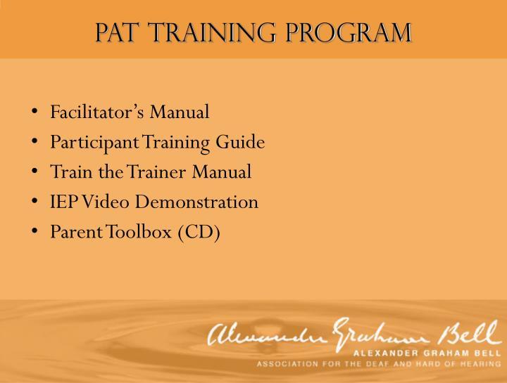 PAT Training Program