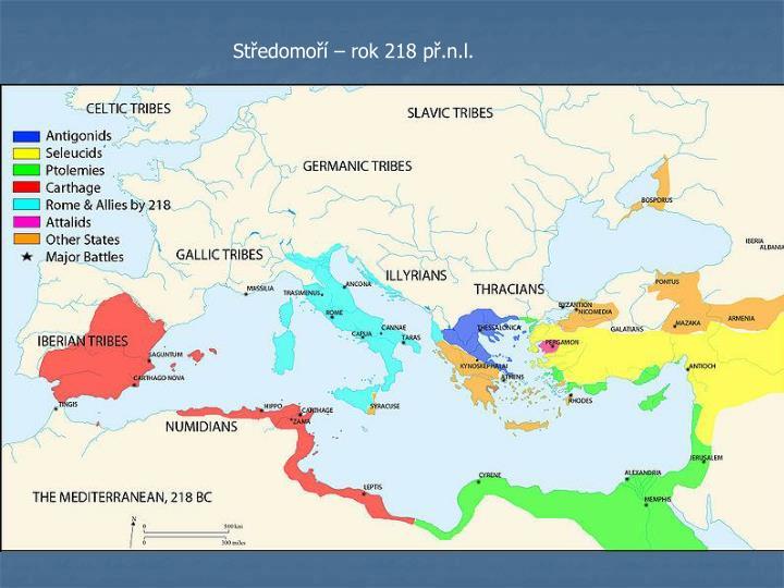 Středomoří – rok 218 př.n.l.