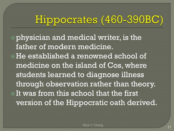 Hippocrates (460-390BC)