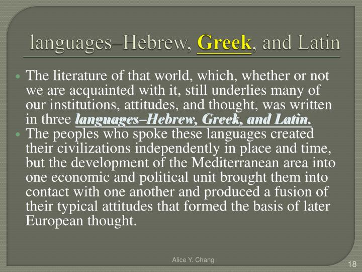 languages–Hebrew,