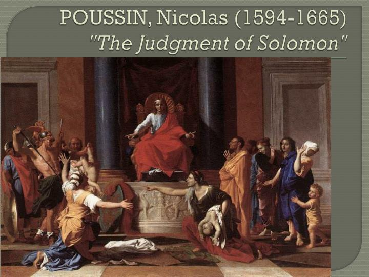 Poussin nicolas 1594 1665 the judgment of solomon