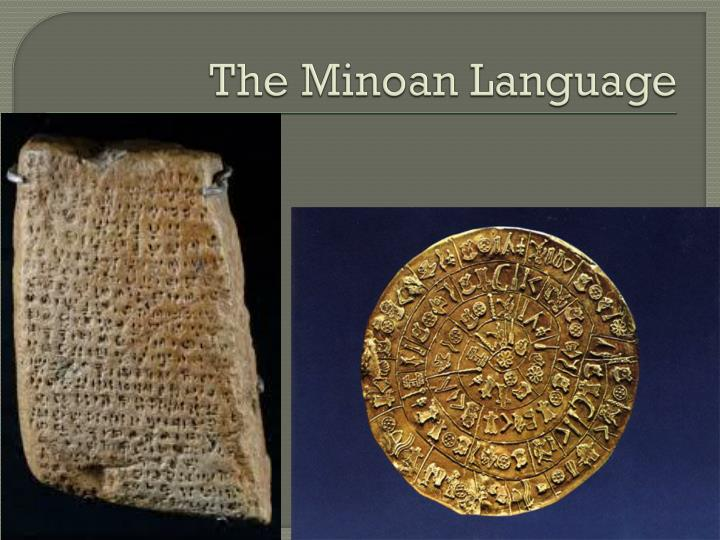 The Minoan Language