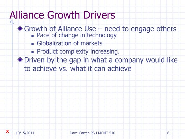 Alliance Growth Drivers