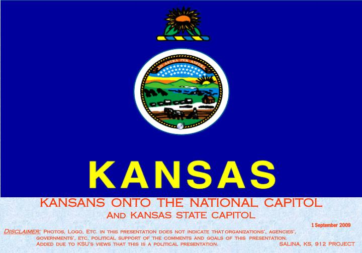 KANSANS  ONTO  THE  NATIONAL  CAPITOL