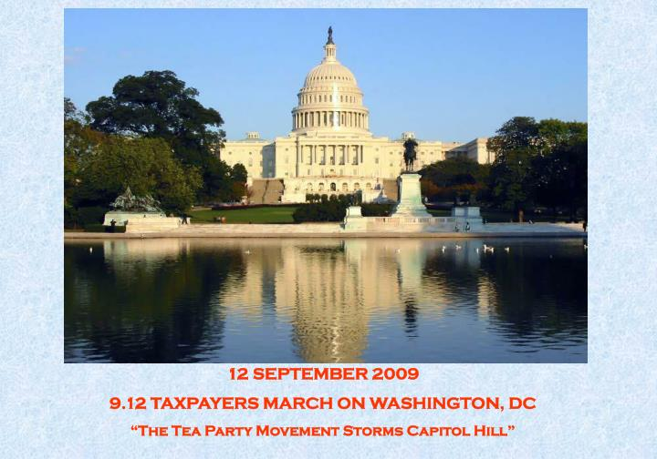 12 SEPTEMBER 2009