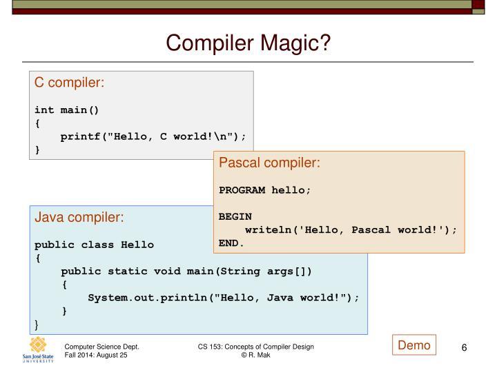 Compiler Magic?