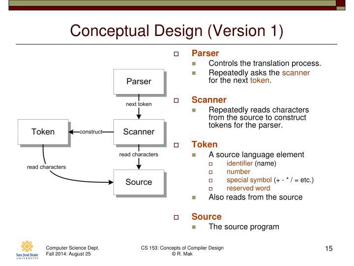 Conceptual Design (Version 1)