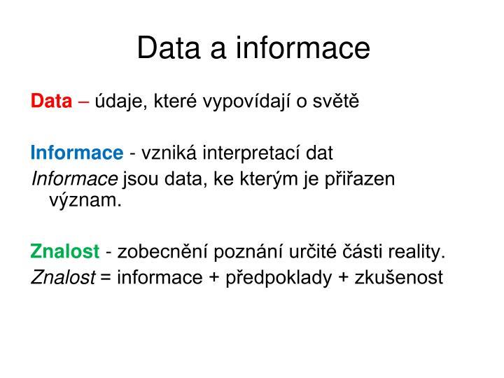 Data a informace