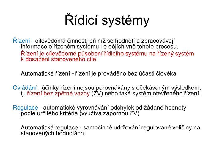 Řídicí systémy