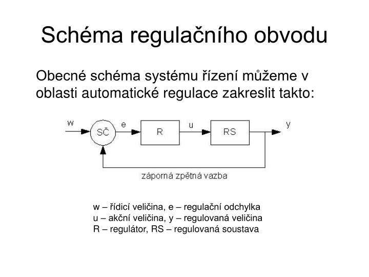 Schéma regulačního obvodu
