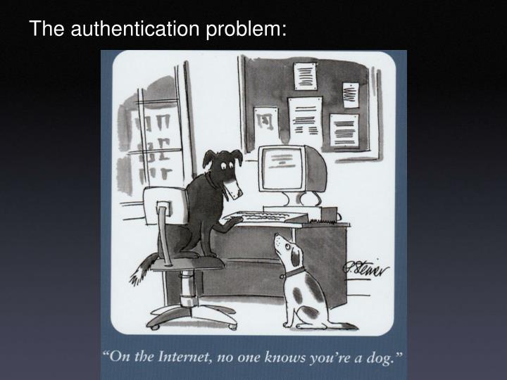The authentication problem: