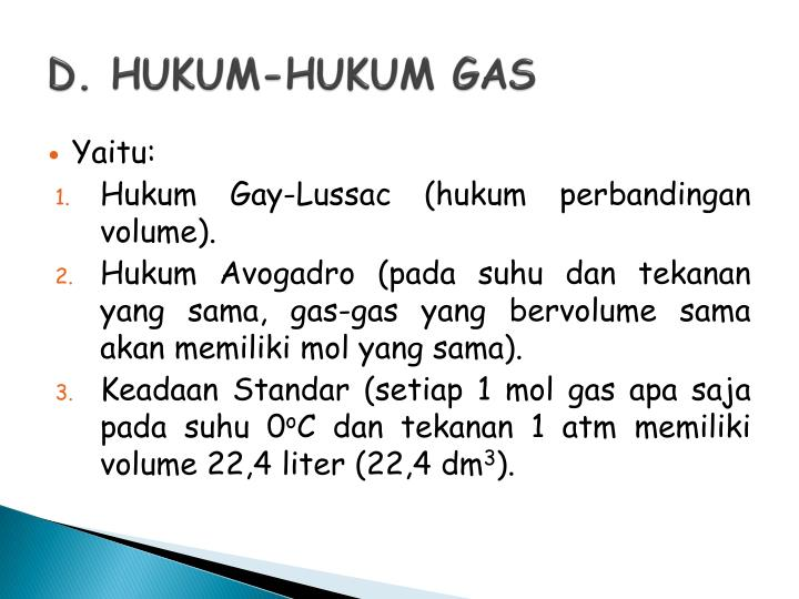 D. HUKUM-HUKUM GAS