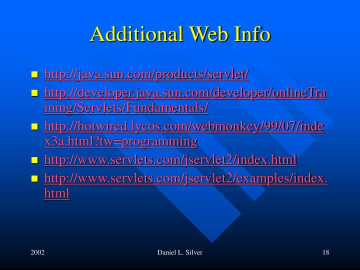 Additional Web Info