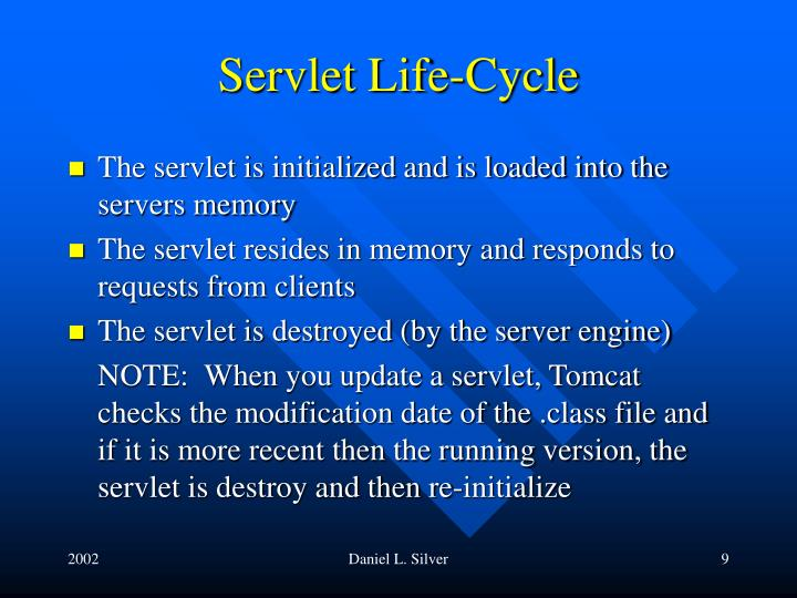 Servlet Life-Cycle