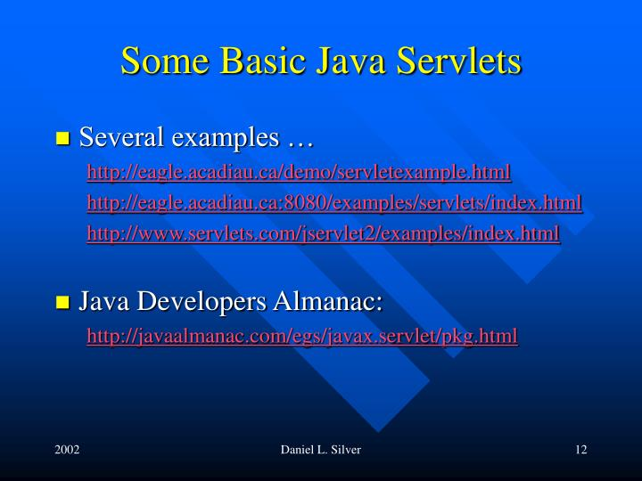 Some Basic Java Servlets