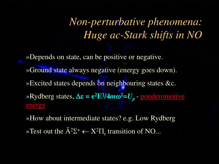 Non-perturbative phenomena: