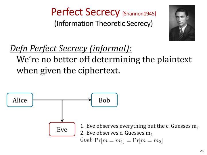 Perfect Secrecy