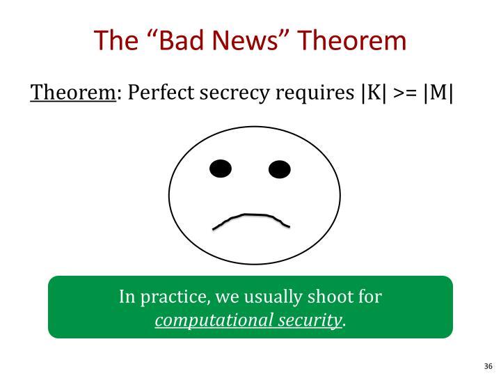 "The ""Bad News"" Theorem"