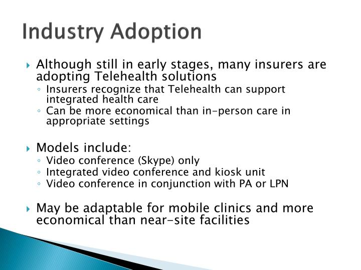 Industry Adoption