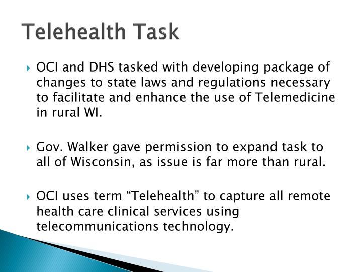 Telehealth Task