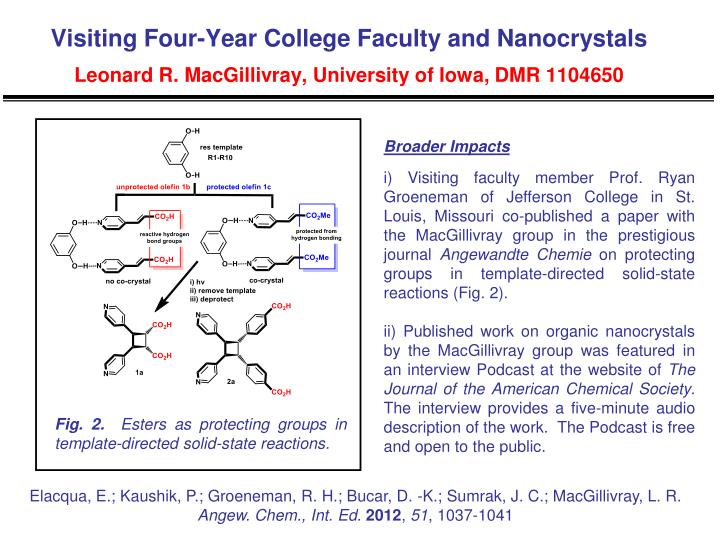 Visiting Four-Year College Faculty and Nanocrystals