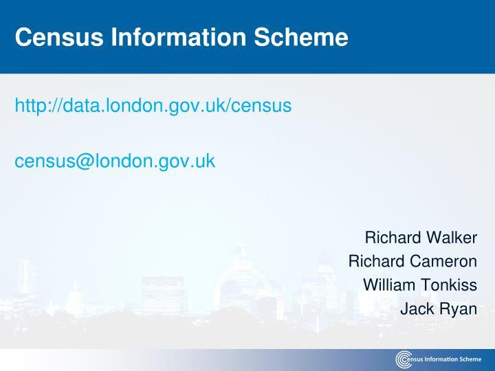 Census Information Scheme