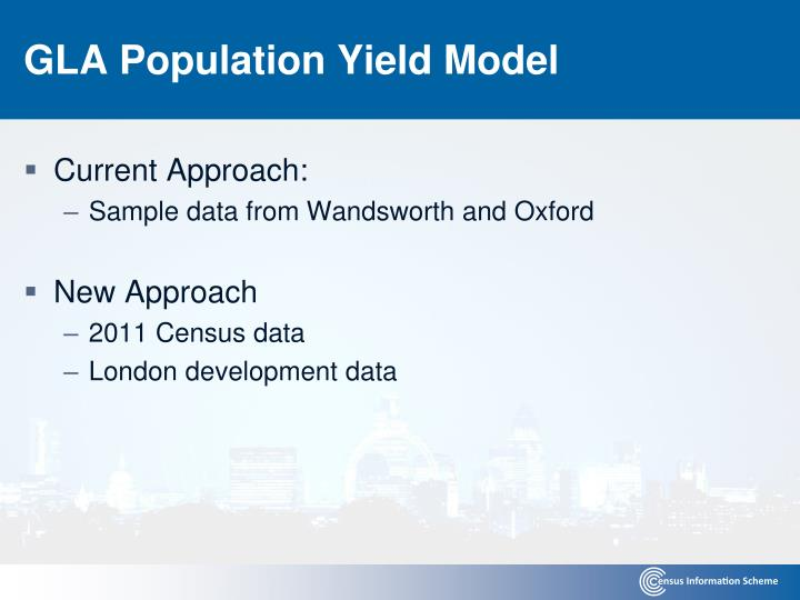 GLA Population Yield Model