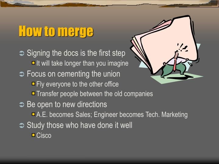 How to merge
