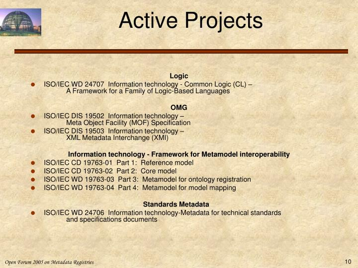Active Projects