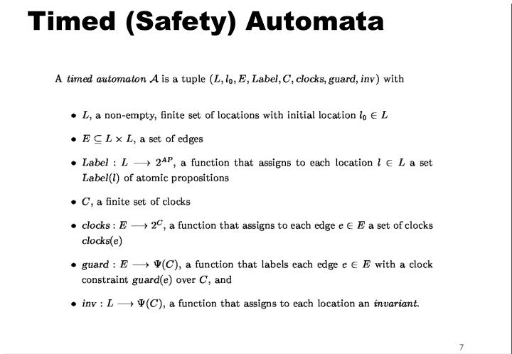 Timed (Safety) Automata
