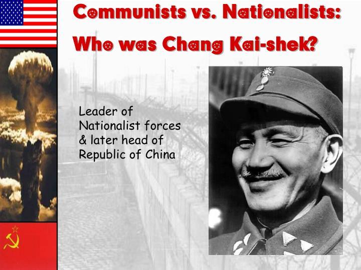 Communists vs. Nationalists: