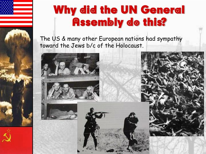 Why did the UN General Assembly do this?