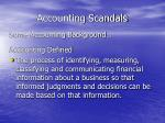 accounting scandals