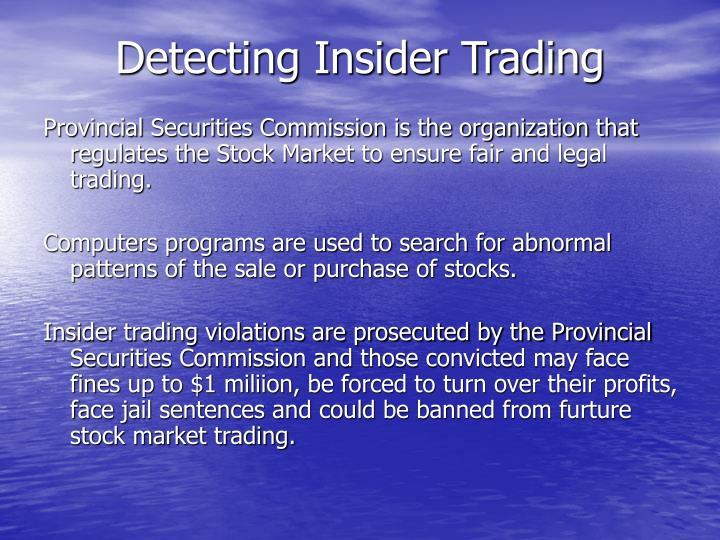 Detecting Insider Trading