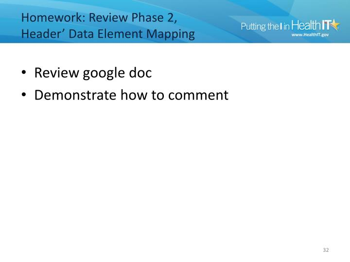 Homework: Review Phase 2,
