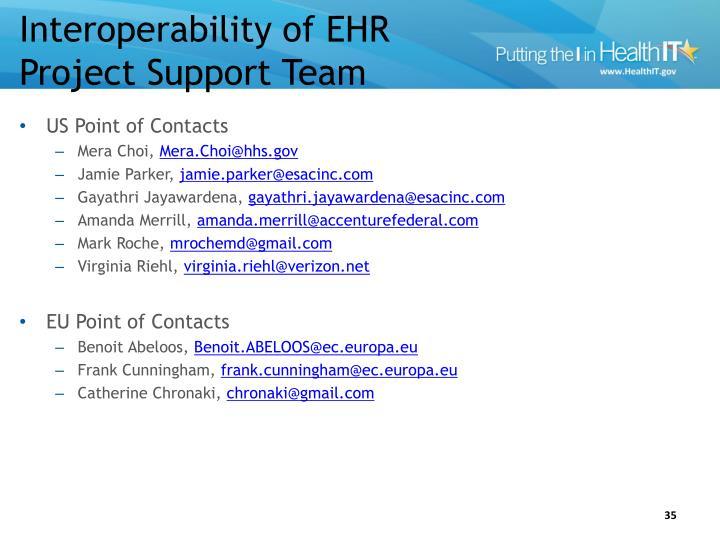 Interoperability of EHR