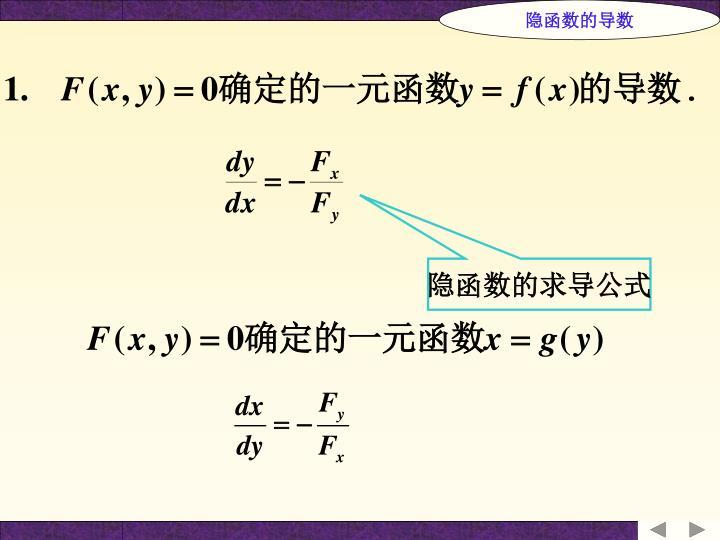 隐函数的导数