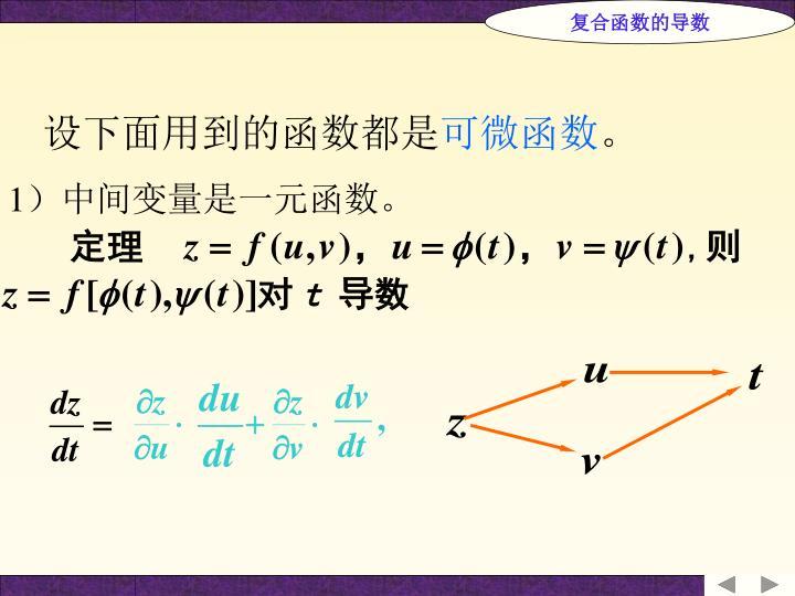 复合函数的导数