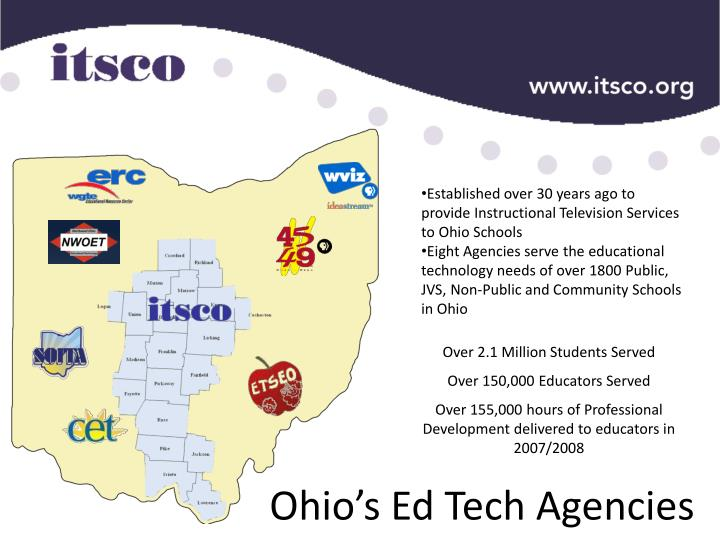 Established over 30 years ago to provide Instructional Television Services to Ohio Schools