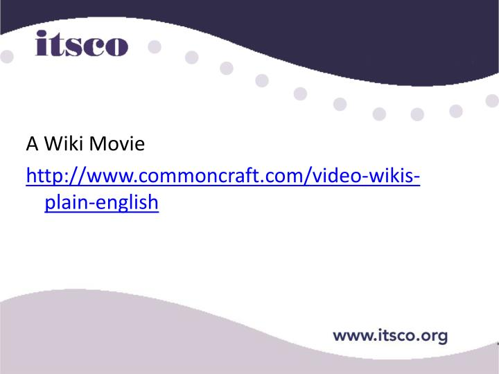 A Wiki Movie