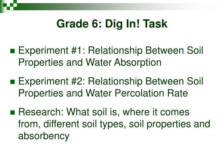 Grade 6: Dig In! Task
