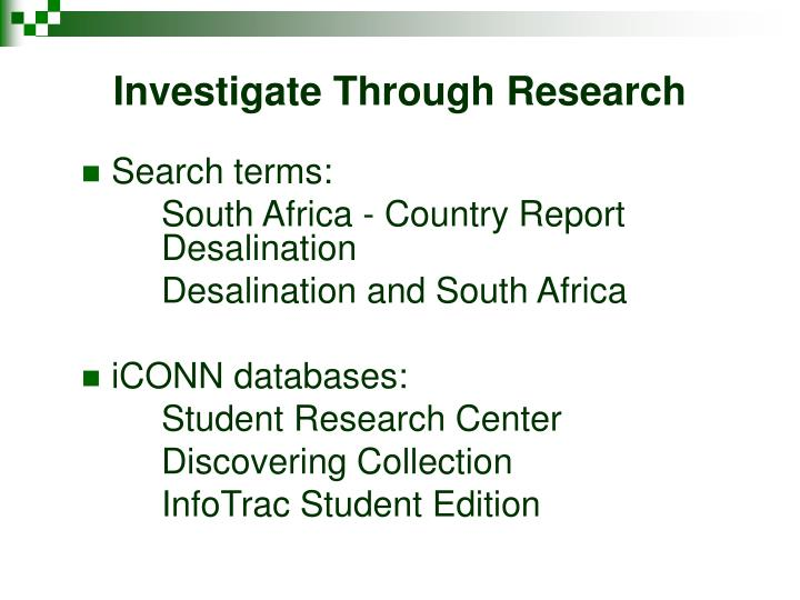 Investigate Through Research