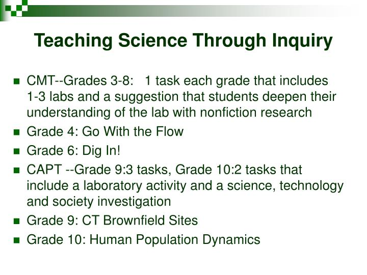 Teaching Science Through Inquiry